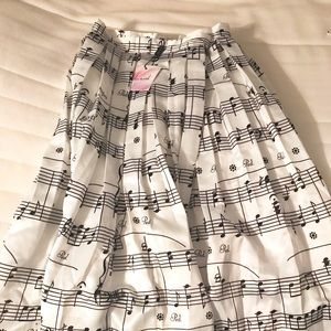 Chicwish Music Notes midi skirt